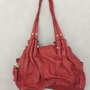 B. Makowsky Burnt Orange Hobo Shoulder Bag